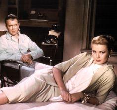 """Jimmy Stewart & Grace Kelly, in my favorite movie... """"Rear Window"""" She had class!"""