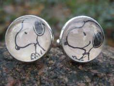SNOOPY Cufflinks. Wedding, Men's Christmas Gift, Dad. Silver Plated. CUSTOM Orders WELCOME on Etsy, $28.15 AUD
