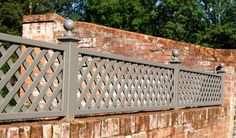 Painted Classic Bespoke Trellis Panels - Wooden Fence Trellis Panels - Essex UK, The Garden Trellis Company Patio Trellis, Wall Trellis, Trellis Panels, Trellis Ideas, Pergola Diy, Cheap Pergola, Pergola Ideas, Pergola Screens, Rustic Pergola