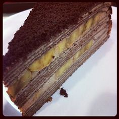 Hokkaido Mille Crepe Cakes (no recipe) layer ideas Crape Cake, Canapes Catering, Cupcake Cakes, Cupcakes, Waffle Cake, Crepe Recipes, Mille Crepe, Dessert Decoration, Baking And Pastry