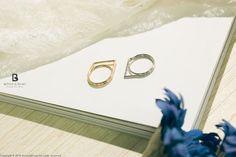 Bonny & Read 平價飾品 - 不對稱空間戒指 / 2色  NT.156