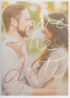 Fall inspired Save the Date Wedding announcement from @Minted.