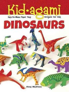 Kid-agami - Dinosaurs: Easy-to-Make Paper Toys: Kirigami for Kids (Paperback)