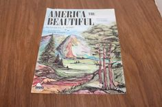 America the Beautiful Piano Solo with Words Sheet Music 1976