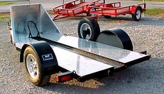 Neal Manufacturing Single Channel Motorcycle Trailers - www.nealtrailermfg.com