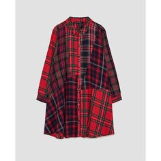 ROBE COURTE À CARREAUX - ROBES-FEMME | ZARA Maroc ($36) ❤ liked on Polyvore featuring intimates, robes, zara, dressing gown, maroc and bath robes