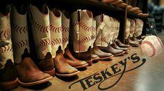 ⚾It's America's favorite pastime! It's baseball season, and we're ready!⚾ Visit http://www.teskeys.com/anderson-bean-baseball-boots-278260.html and get these Teskey's EXCLUSIVE Anderson Bean baseball stitch boots! #Teskeys #boutique #Bootsfordays #baseball #Texasrangers #springtraining #takemeouttheballgame #bootoftheday .