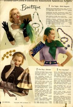 Great late 40s accesories
