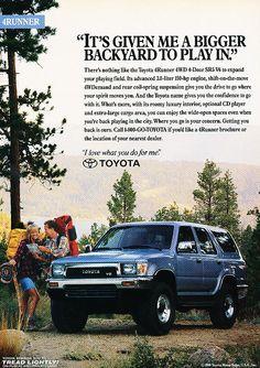 1991 Toyota 4Runner Advertisement http://rankmymedia.com/