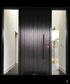 Do you want pivot doors in Melbourne? Armadale Doors & Leadlight is a leading supplier of pivot doors - make a statement with an impressive entraceway today! Modern Entrance Door, Modern Exterior Doors, Modern Front Door, Front Door Entrance, House Front Door, Front Door Design, House Entrance, Entry Doors, Front Entrances