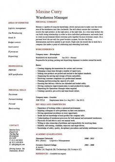 Distribution supervisor job description resume