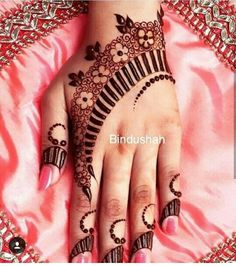 Antique henna design