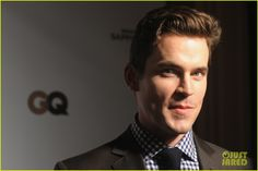 Matt Bomer - Lacoste/GQ Super Bowl Party!