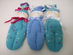 Muñecos hechos con calcetines...