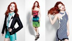 Our redheaded Sea of Shoes beauty, Jane Aldridge, in the Barneys catalogue