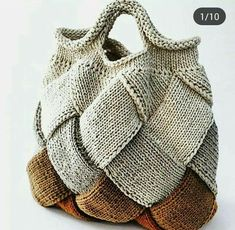 Marvelous Crochet A Shell Stitch Purse Bag Ideas. Wonderful Crochet A Shell Stitch Purse Bag Ideas. Crochet Tote, Crochet Handbags, Crochet Purses, Easy Crochet, Knit Crochet, Knitted Bags, Handmade Bags, Knitting Patterns, Tote Bag