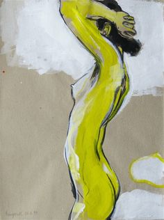 """Margareth"" (1993) - Dominik Burckhardt; Acrylic."