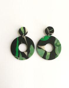 Haegur Mix Clay Drop Earrings by cbrdesign on Etsy
