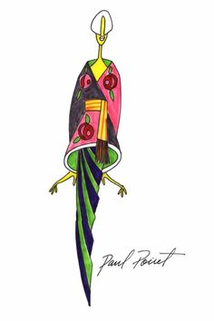 This shape, from a Poiret sketch, this tunic worn over skinny pants.. That I could do...