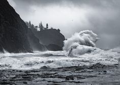 With the high winds & rain fall I knew I had to drive to the coast to see the waves crashing! The wind was blowing the rain sideways and I was completely soaked through all my layers after 30 minutes but the explosiveness of the waves colliding was mesmerizing. I was really surprised with the number of other photographers out there too! Definitely worth seeing once. Check out my Facebook Page for more of my latest work.