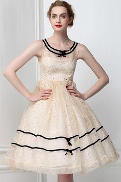 Small Dots Pink Dress(<font style=
