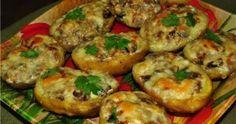 Cartofi umpluți cu ciuperci la cuptor – o rețetă plină de aromă și savoare