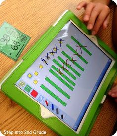 Using the ipads for subtraction! This app is called Number Pieces Basic, from The Learning Centre. There are other great free apps as well. Math Classroom, Kindergarten Math, Teaching Math, Teaching Ideas, Classroom Ideas, Math Resources, Math Activities, Math Games, Math Subtraction