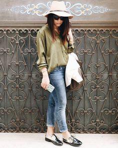 outfit fashion blogger italia Veronica Giuffrida jeans stradivarius zara cappello camicia scarpe Instagram/Snapchat: @Veronikagi