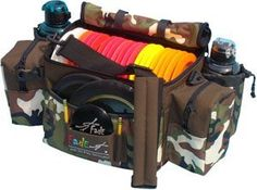 Fade Gear Tourney Disc Golf Bag Dude by Fade Gear Tourney Disc Golf Bag - DUDE. $52.49. This FADE Gear disc golf bag is a generous, TOURNAMENT-sized disc golf bag and perfect for everyday use as well.  (discs & bottle not included)  The bag is designed strong and sturdy. WARNING! Do not purchase this bag if you want to be ordinary.  Just read down the list of features... Holds 20 Discs + 2 Putters  2 Insulated Beverage Holders  Padded, Adjustable Shoulder Strap  Z...