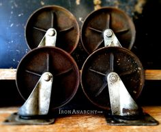 Vintage Industrial Casters from IronAnarchy.com
