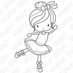 Whimsiedoodles stamps Ballerina