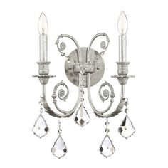 Regency Crystal Wall Sconce from the Gold Coast Lighting event at Joss and Main!