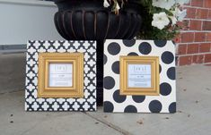 Moroccan Club and Polka Dot designed frames. Set of by 205Designs, $67.00
