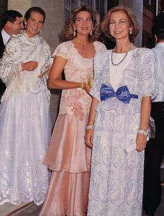 HRH Cristina, Queen Sofía and HRH Elena from Spain.    -lbk-