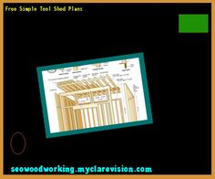 Free Simple Tool Shed Plans 075828 - Woodworking Plans and Projects!
