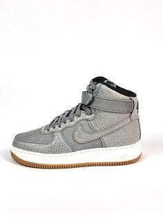 df7350c0df16 Nike Air Force 1 HI Premium Womens Shoes Size 8 654440-008 Wolf Grey  110