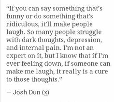 I feel the same way, Josh<3