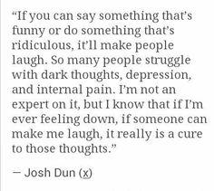I feel the same way, Josh<3