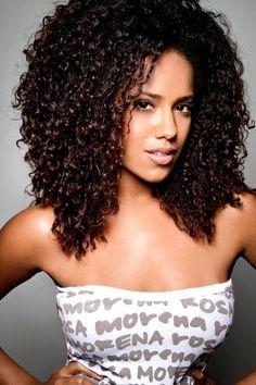 natural hair - Shiny curls