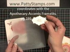 """Stampin Up! Paper Piercing pack tutorial- Love my paper piercer....you can also use this to make """"dots"""" of ink around your design or using perfect pearls....pearls around your designs!"""