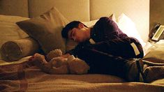 "jaesama: ""A concept, Ziam not having seen each other for a whole year and when Liam gets back home late after working in the studio, he finds Zayn sleeping safe and sound on his bed. He's cuddled next to the teddy bear he'd given Zayn long ago and..."
