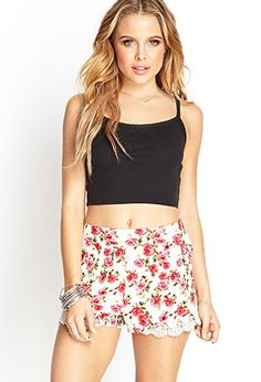 Lacy Floral Tap Shorts | Forever 21 - 2000123348