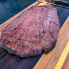 Flank Steak Tacos, Marinated Flank Steak, Flank Steak Recipes, Pellet Grill Recipes, Smoked Meat Recipes, Smoked Beef, Grilled Recipes, Homemade Smoker, Smoke Grill