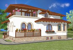 Daca iti place stilul neoromanesc, atunci trebuie sa vezi casele proiectate de arhitectul Adrian Paun! - Fabrika de Case Desert Places, Building Stone, Design Case, Traditional House, Architecture Design, Farmhouse, Exterior, House Design, Mansions