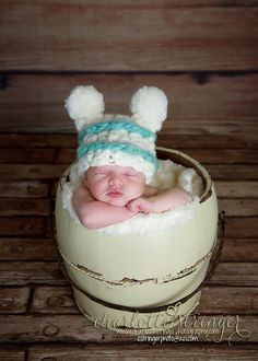 Baby Boy Pompom Hat  Pom poms Sage Green Cream by Doodlebopperz, $25.00