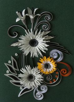 neli: Quilling cards - flowers 2011/12