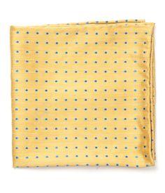f259ecc62295 Yellow Dotted Dots Pocket Square   Men's Pocket Squares   The Tie Bar Men's Pocket  Squares