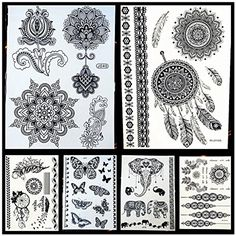 6 SHEETS metallic flash temporary tattoos OVER 120  body jewelery stickers temporary tattoo body art metallic flash tattoo body stickers 3d body glam size large 6 x 8 water transfer ** You can find out more details at the link of the image. (This is an affiliate link and I receive a commission for the sales) #Makeup