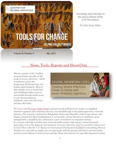 2015 May Tools for Change CGI Newsletter by Dr. Chris Stout via slideshare