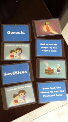 Make Bible book cards out of screenshots of the videos!